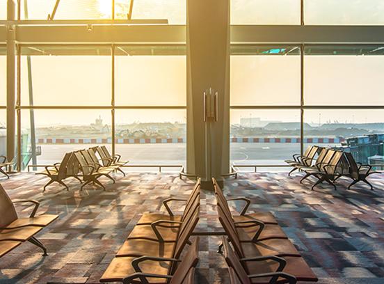 Hong Kong - December 2, 2016 : Departure lounge at Hong Kong International Airport (Hong Kong)